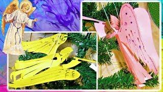 DIY Супер простой ангел из бумаги.Новогодние поделки своими руками. Christmas angel