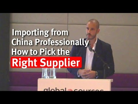 Importing from China Professionally: How to Pick the Right Supplier (Manuel Becvar)