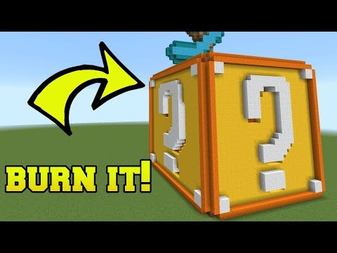 IS THAT A LUCKY BLOCK?!? BURN IT!!!