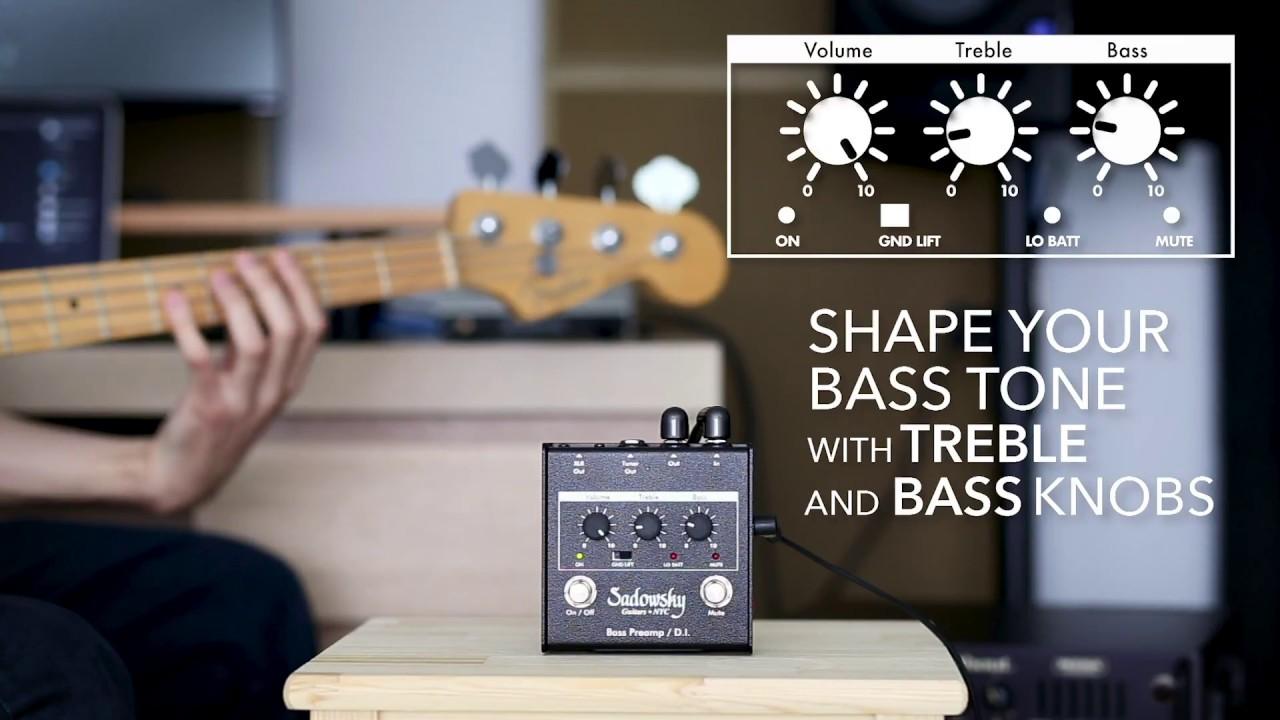 Sadowsky SBP-1 Bass Preamp/DI Pedal – Mesa Boogie Hollywood