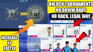 REALCRICKET 19 how to unlock everything in legal way | tournaments