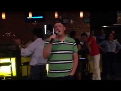American Dude Singing At Mongolian Karaoke Party