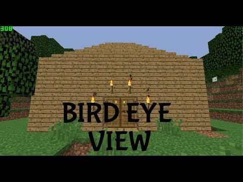 Minecraft [] Building A Simple House Next To The Ocean From Bird Eye View!