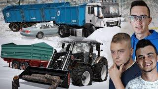 """Wypadek !! Cięcie Drzewa & Wywóz Zboża i Śniegu ❄️ Zima w FS 17 """"od Zera do Farmera""""[WINTER MAP]#243"""