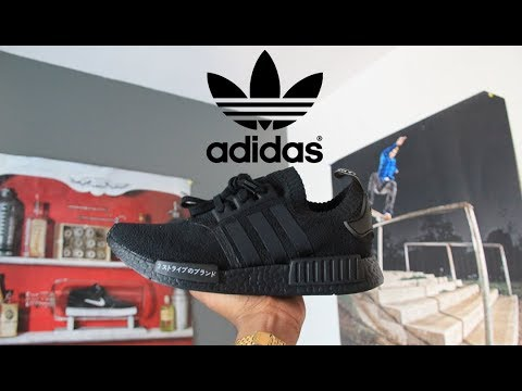 e13b9a8fb9362 Adidas NMD R1 PK Triple Black Japan