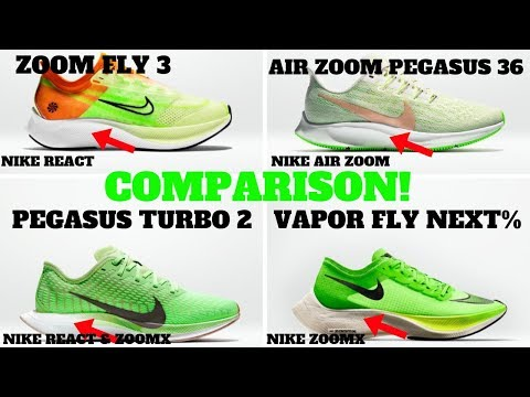 Nike Technology Compared: Zoom Pegasus 36 vs Zoom Fly 3 vs