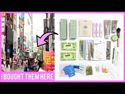 Korean Skincare Shopping in Seoul ♦ Tour of Myeongdong