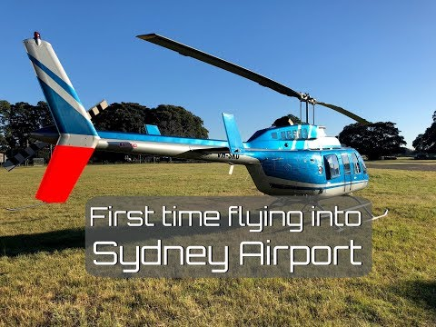 First flight into Sydney Airport with the 206 Longranger