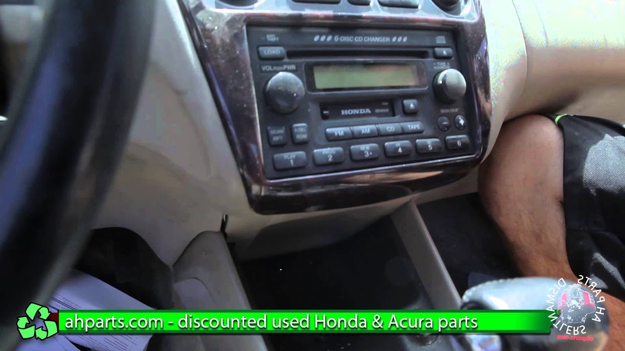 how to replace change a radio 1998 1999 2000 2001 2002 honda accord replace diy youtube [ 1920 x 1080 Pixel ]