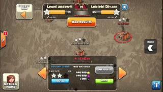 "Clan war against "" Leblebi diyari "" 2 stars⭐️⭐️ to th10   Clash of Clans"