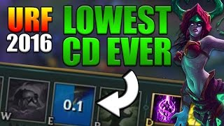 URF 2016 0.1s CD CASSIOPEIA E? | FASTEST ABILITY IN GAME! - League of Legends