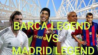 BARCELONA LEGEND VS REAL MADRID LEGEND 2-3 highlig
