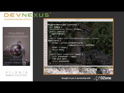 Devnexus 2015 - Design Patterns in the Light of Lambdas - Venkat Subramaniam