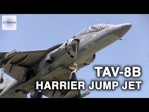 TAV-8B Harrier Jump Jet in Action! Vertical Takeoff & Landing
