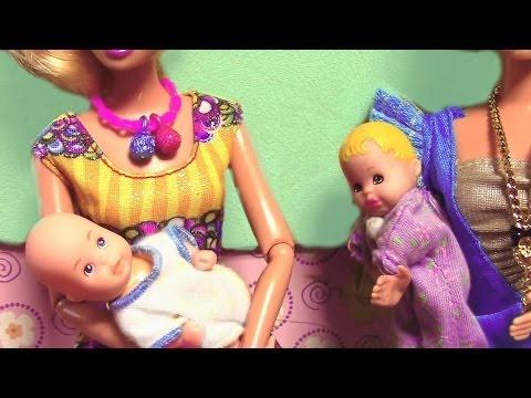 Princess Elsa and Kristoff Babies FROZEN Parody Barbie Moms Toddlers