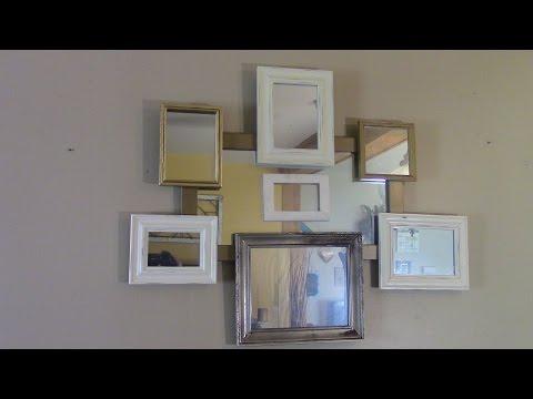DIY Budget friendly Framed Mirror Wall Art