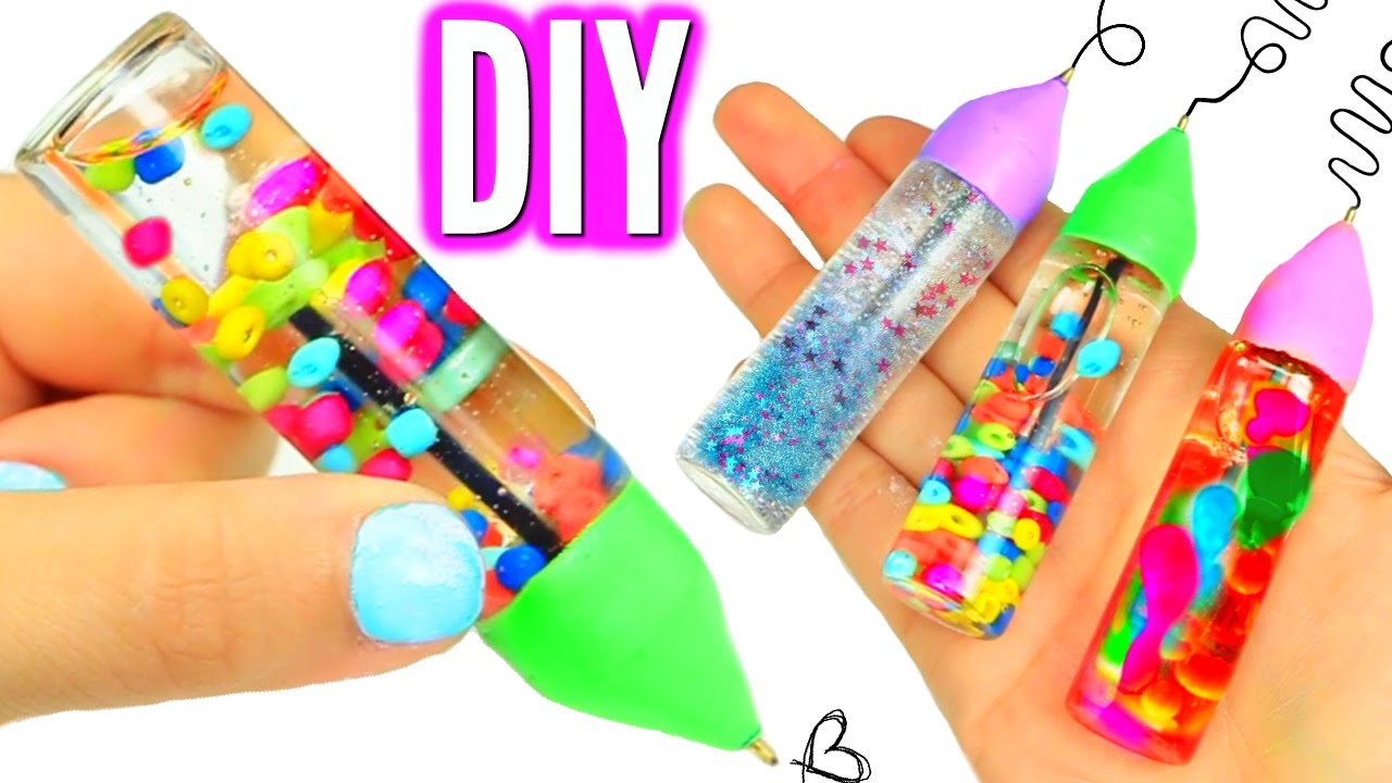 DIY LIQUID PENS! Orbeez, Lava, & Glitter Liquid Pens ...