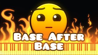 Synthesia [Piano Tutorial] DJVI - Base After Base (Geometry Dash lvl 5)