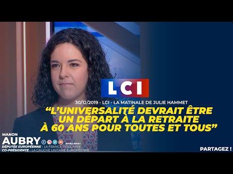 L'UNIVERSALITÉ DEVRAIT ÊTRE UN DÉPART À LA RETRAITE À 60 ANS POUR TOUTES ET TOUS - Manon Aubry