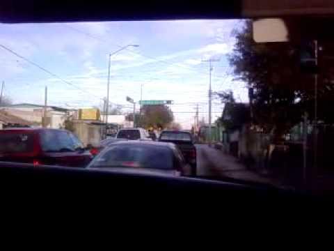 Driving in venezuela street, nuevo laredo city