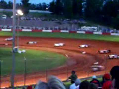 World of Outlaw late model crash