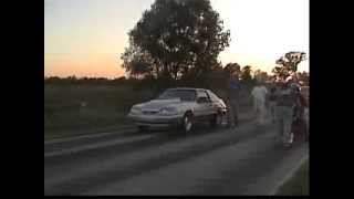 Chicago Street Racing Nitrous Mustang vs Pro Stock Bike during the DAY!