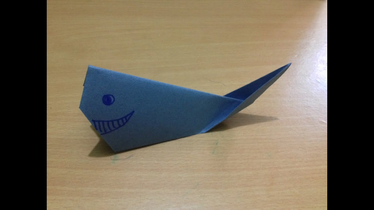 How to make origami whale fish easy? - origami fish for ... - photo#12