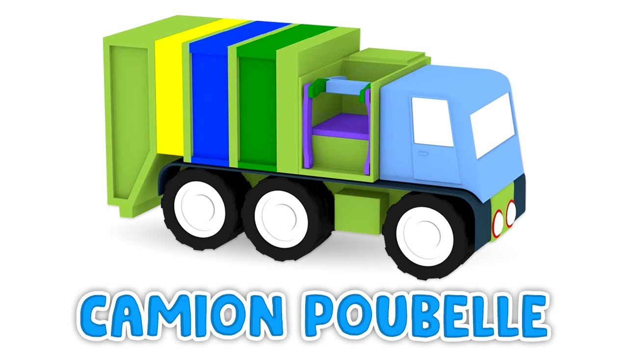 dessin anim ducatif pour enfants de 4 voitures camion poubelle youtube. Black Bedroom Furniture Sets. Home Design Ideas