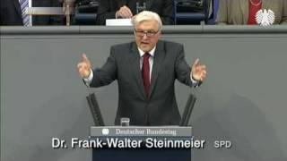 Rede von Frank-Walter Steinmeier in der Generaldebatte der 2./3. Lesung zum Bundeshaushalt 2011