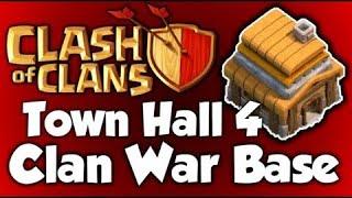 Townhall 4 War Base (ANTI GIANTS!) (ANTI 3 STAR!)
