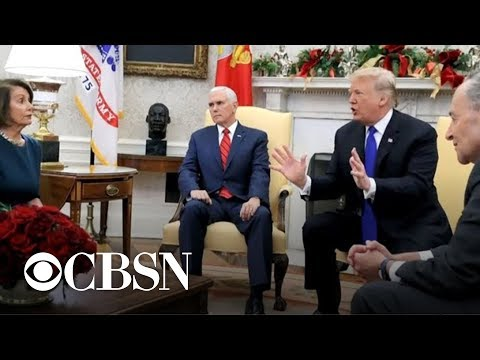 Trump clashes with Pelosi & Schumer over border security