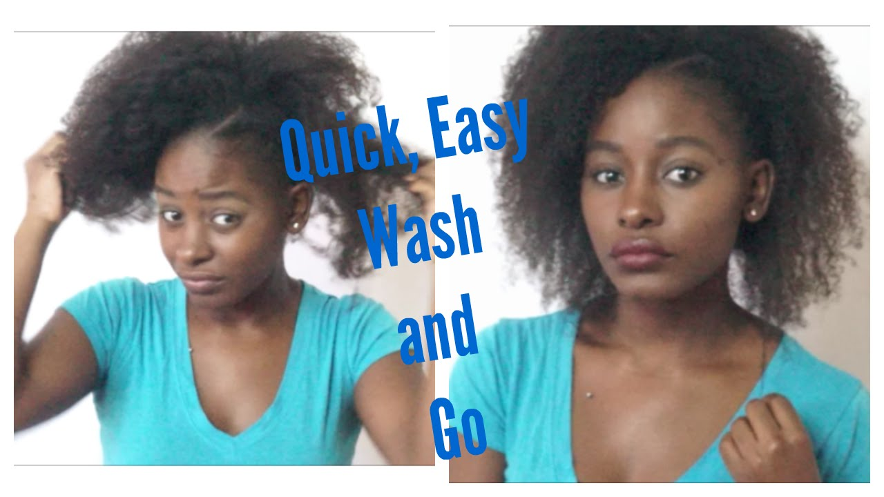 easy hairstyles | quick wash and go on transitioning hair | anti shrinkage edition