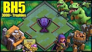 BEST BH5 [Builder Hall 5] 3000+ Trophies Base! W/ Replays , Anti Baby Dragon - Clash Of Clans