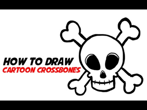 How To Draw A Simple Cartoon Skull 3 Of 3 Step By Step Skull And