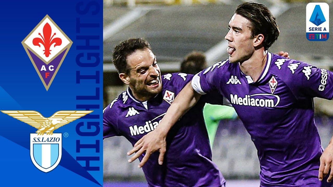 Fiorentina 2-0 Lazio | Vlahović Double Claims Win for La Viola | Serie A TIM