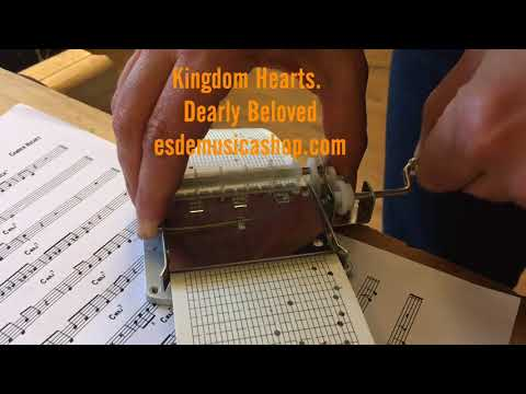 Dearly Beloved Kingdom Hearts. 30 notes music box