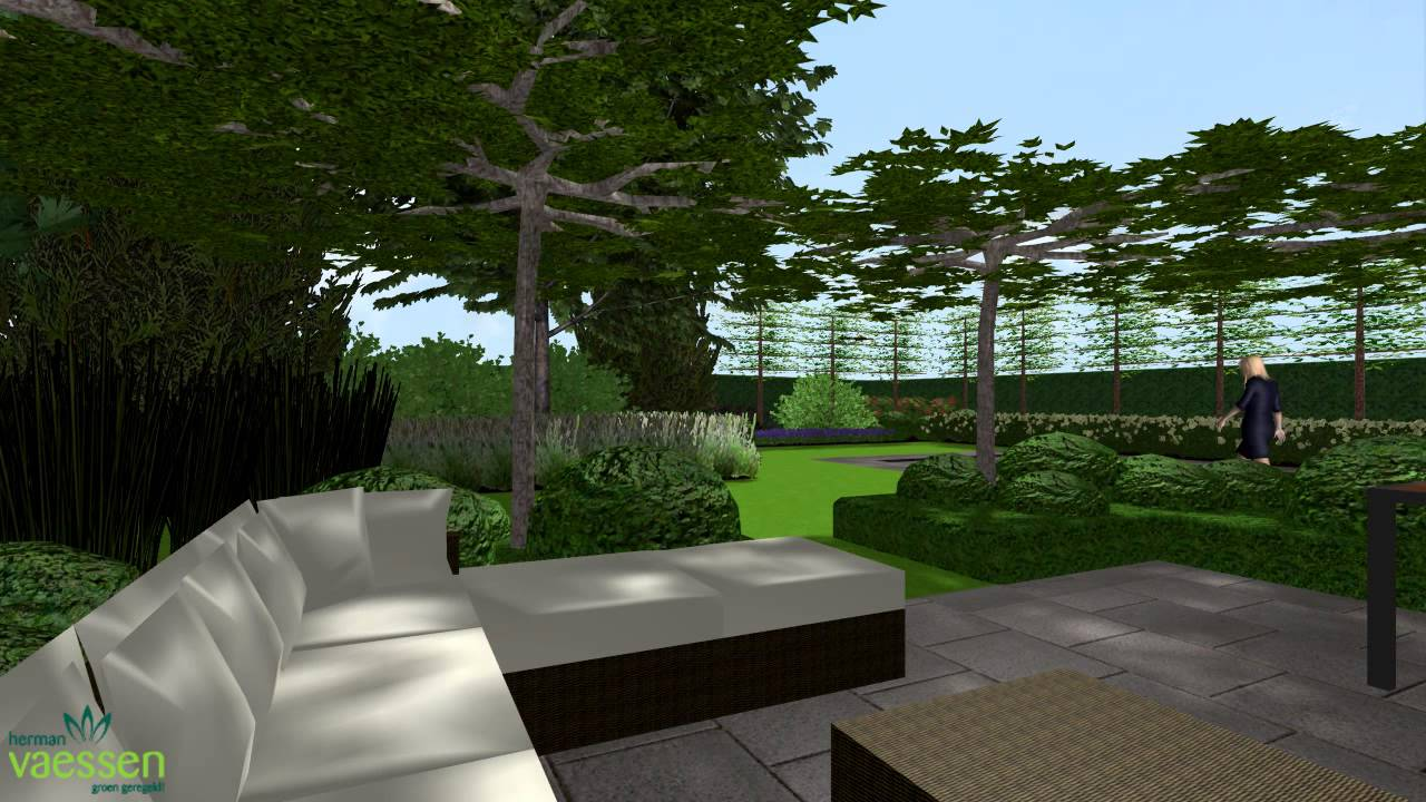 Herman vaessen 3d tuinontwerp renovatie villatuin met zwembad youtube - Outs zwembad in de tuin ...