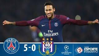Melhores Momentos - PSG 5 x 0  Anderlecht  - Champions League (31/10/2017)