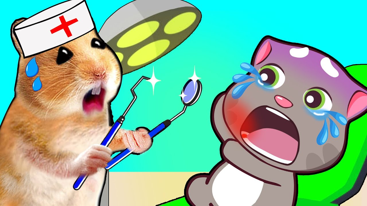 Talking Tom at the Dentist - Doctor Hamster Cartoon by Life Of Pets Hamham