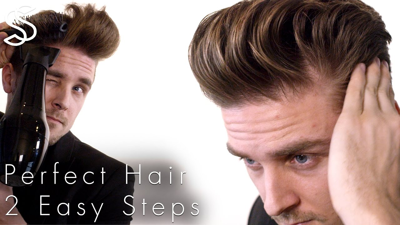 Perfect Blow-dry and Quiff hairstyle techniques + NEW fiber wax test ...