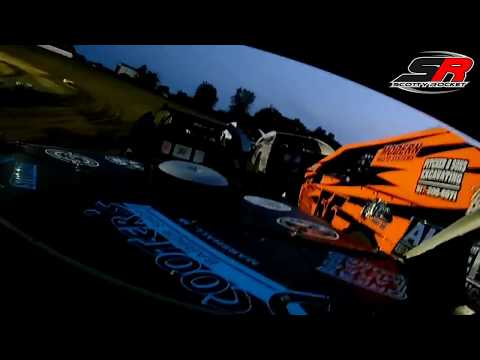 Butler Speedway UMP Modifieds - Shellenberger Heat Race 3 InCar Cam - 8-5-2017