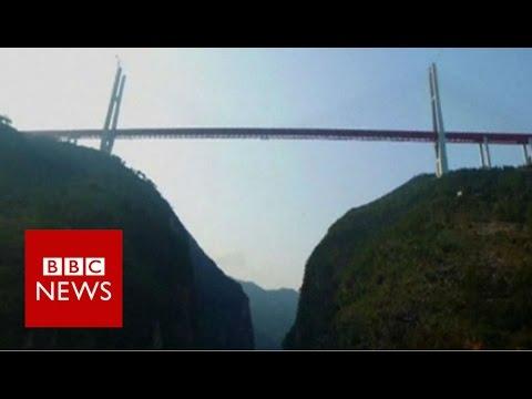 World's Highest Bridge Opens In China - BBC News