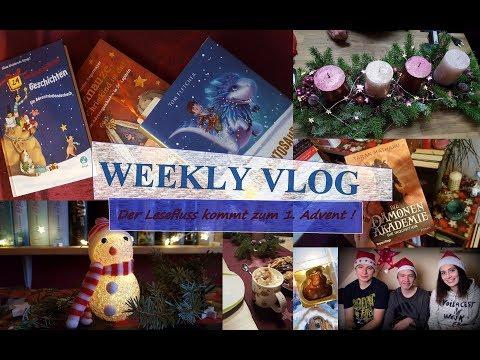 [Weekly Vlog] #8 \\  Der 1 .Advent naht & damit kommt der Lesefluss zurück