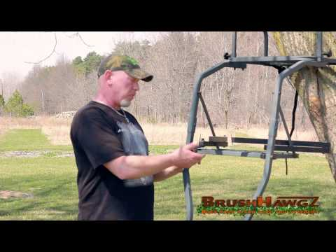Brushhawgz Tree Stand Concealment System From Bad River