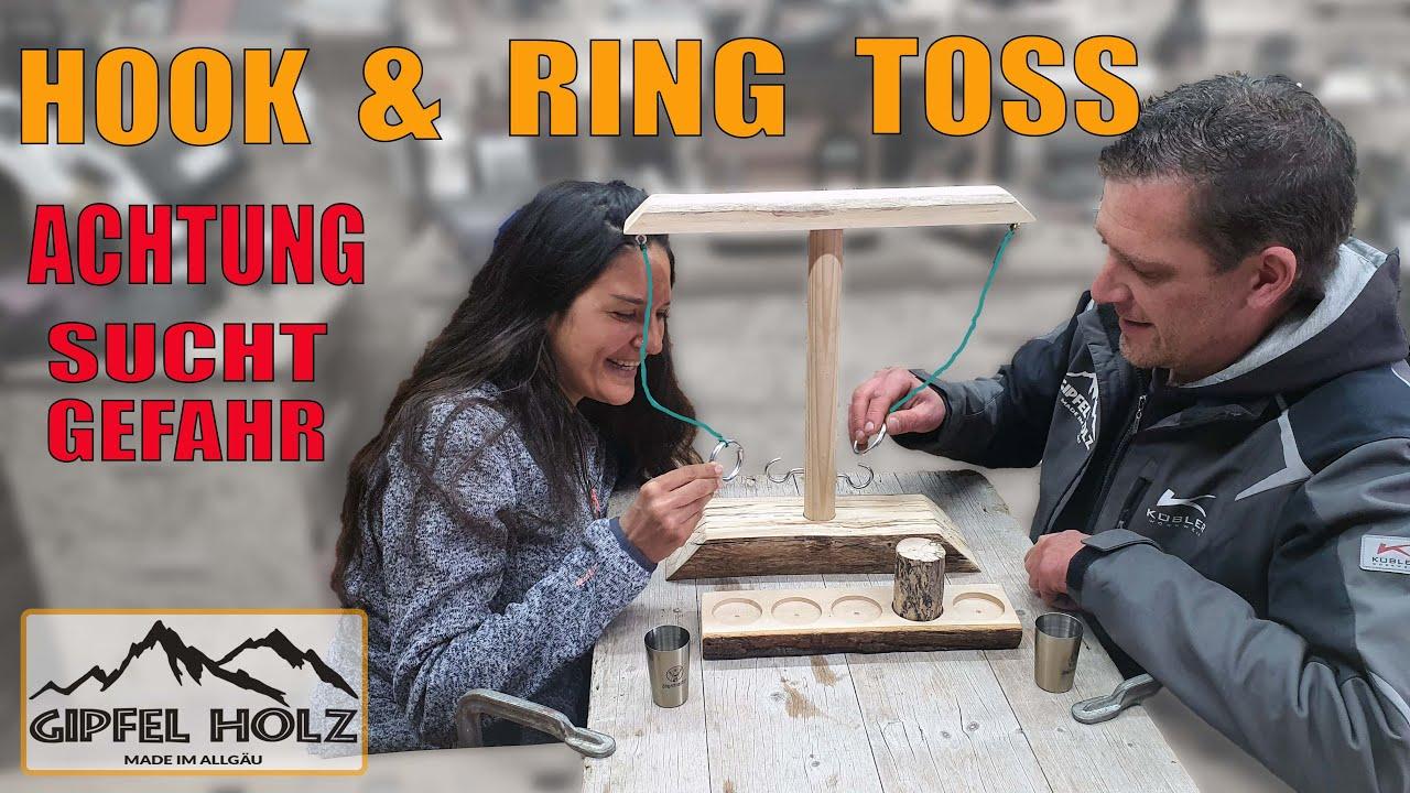 Party-Wurfspiele Toss Haken und Ring Spiel Ringwurfspiel aus Holz Party Spiel f/ür Family Bar Fun VKKV Tik Tok Game Tik Tok Ring Toss Game