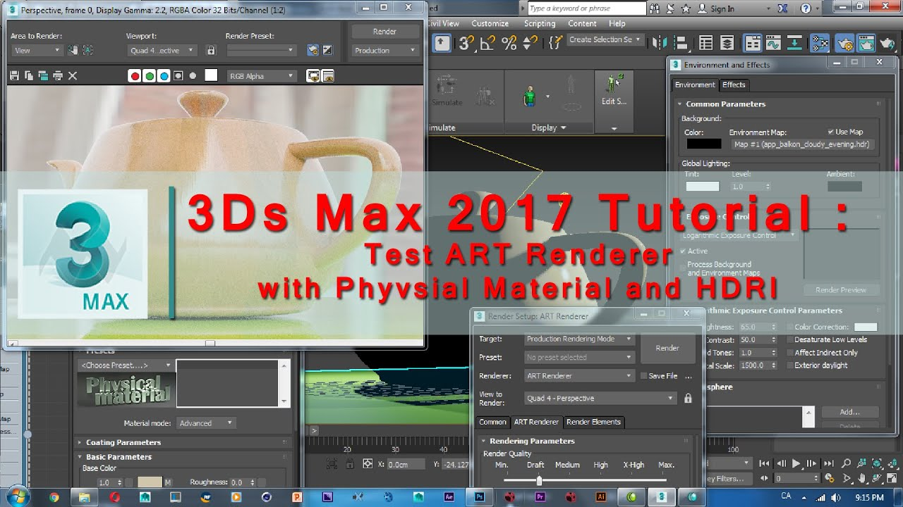 Line Drawing Render 3ds Max : Ds max tutorial test art renderer with physical