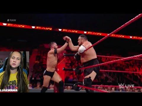 WWE Raw 11/13/17 Balor Samoa Joe vs The Club