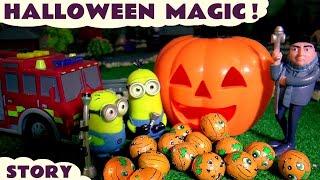 halloween minions magic with gru thomas friends and tonka trucks toys and cars for kids fun tt4u