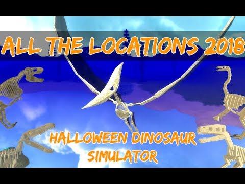 Dinosaur Simulator Halloween Event 2020 Where Is Fossil Utah ALL FOSSIL LOCATIONS (2018) HALLOWEEN DINOSAUR SIMULATOR   YouTube