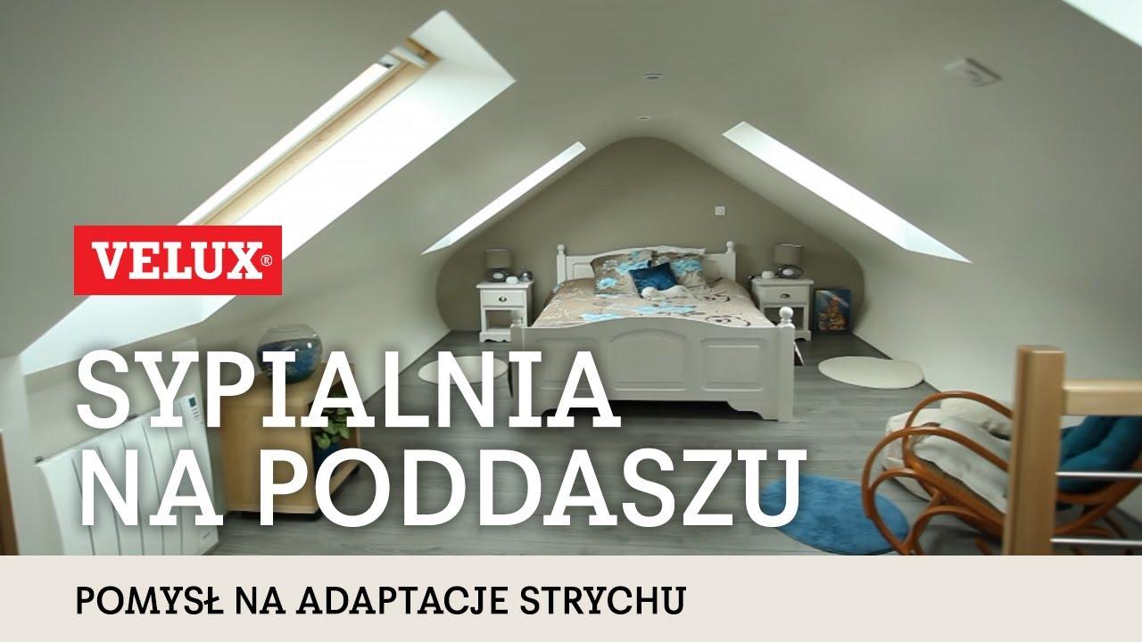 Adaptacja Poddasza Sypialnia Z Oknami Na Przeciwleglych Połaciach Dachu